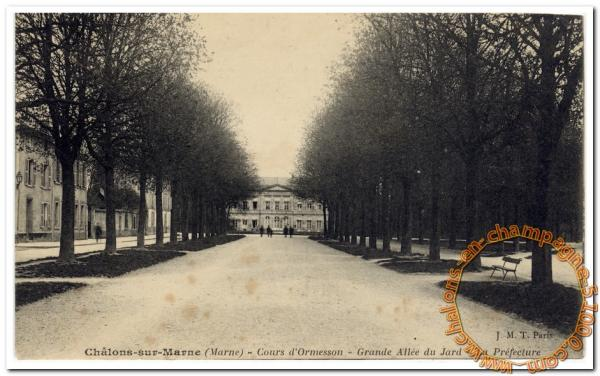 Cours d'Ormesson - Grande allée du Jard