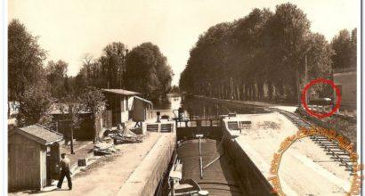 La traction des péniches sur le canal