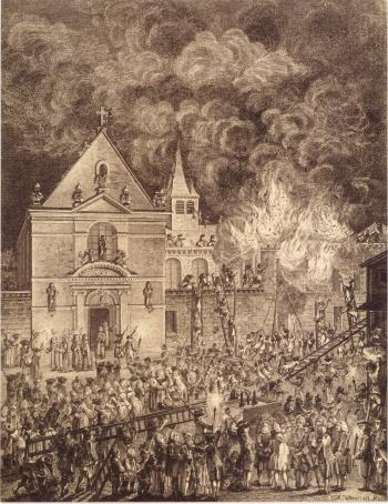 Incendie du Couvent des religieuses de St Joseph