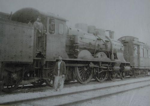 La locomotive conduite par Edmond Thénière