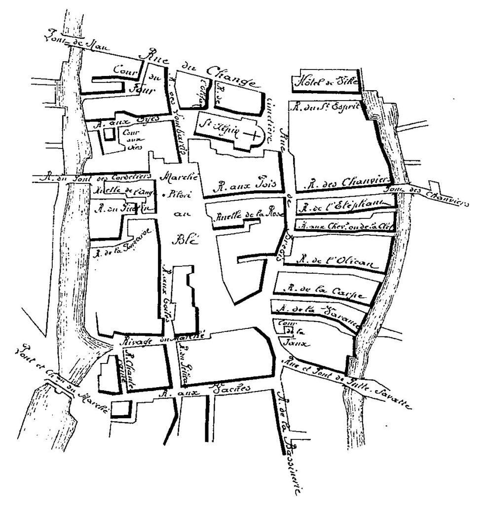 Le Quartier du Marché au blé en l'an 1625