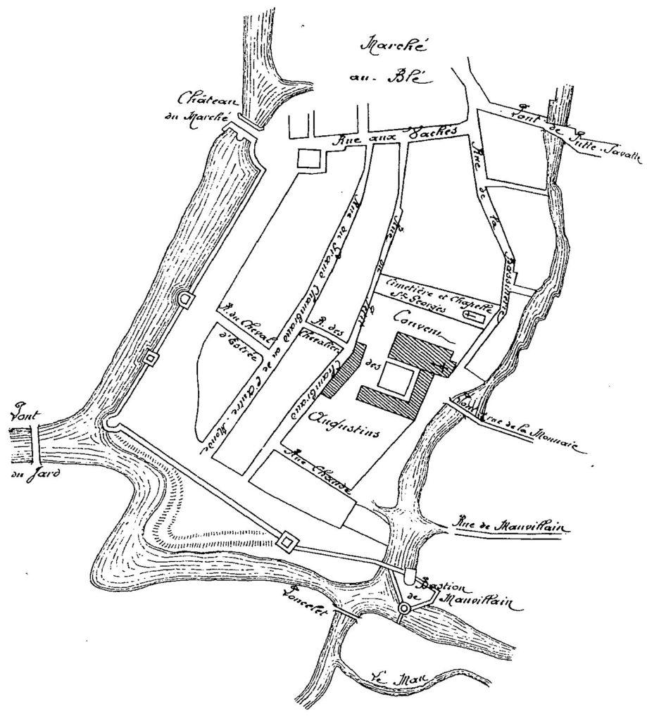 Quartier du Cours d'Ormesson en 1625