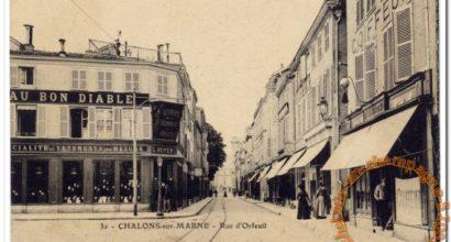 La rue d'Orfeuil à Châlons en Champagne